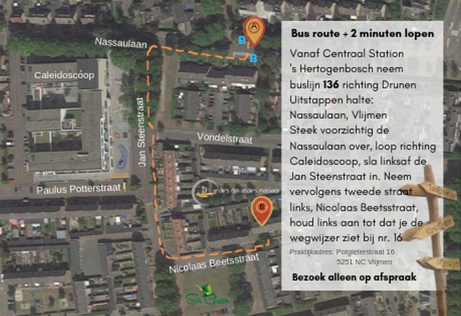 routebeschrijving OV vanaf CS 's-Hertogenbosch