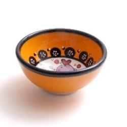 wasabi schaaltje geel met vis motief