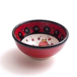 wasabi schaaltje rood met vis motief