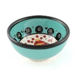 wasabi schaaltje turqouise met vis motief