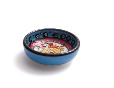 wasabi schaaltje blauw met vis design