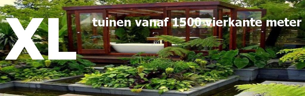 Wat kost een tuin tuinen vanaf 1500 vierkante meter for Wat kost een tuinontwerp