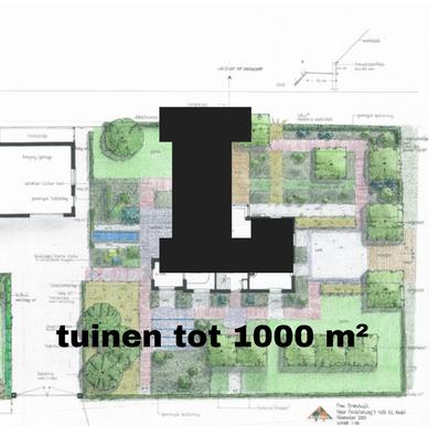 Inspiratie voor tuinen tot 1000 vierkante meter