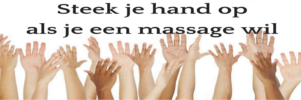 steek je hand op als je een massage wil