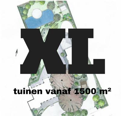 Inspiratie voor tuinen vanaf 1500 vierkante meter