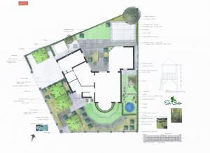 Tuinontwerp renovatie tuin tot 1000 vierkante meter in Helmond