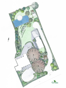 XL tuinontwerp monumentale tuin Vlijmen