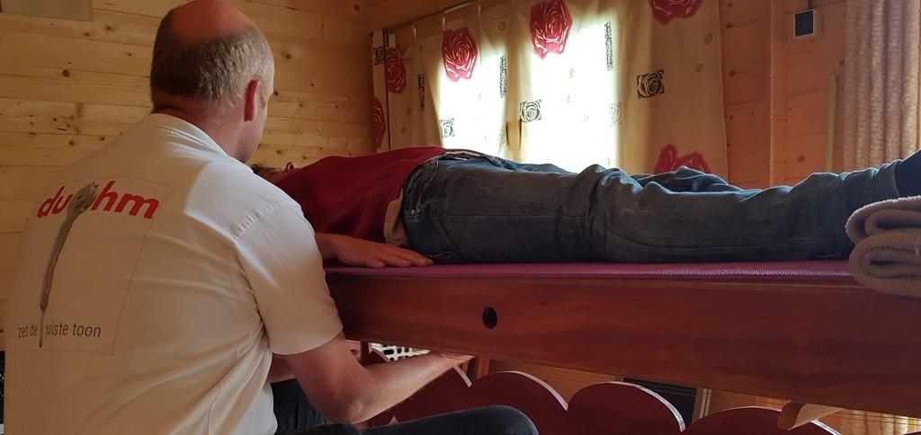 klanktafel massage behandeling op locatie