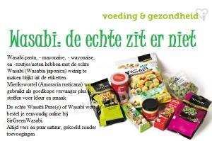 wasabi? de echte zit er niet in!
