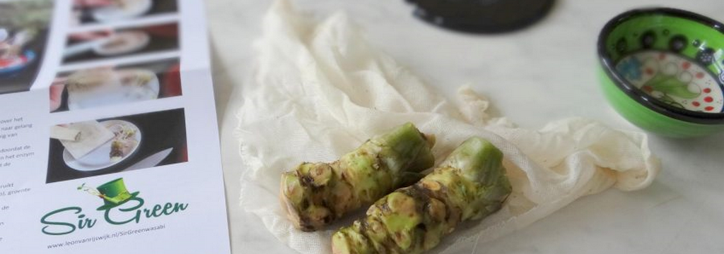 chef d Cuisine hanneke experimenteert met verse wasabi