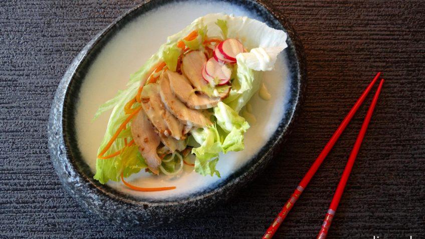 Slawraps met kip en verse wasabi