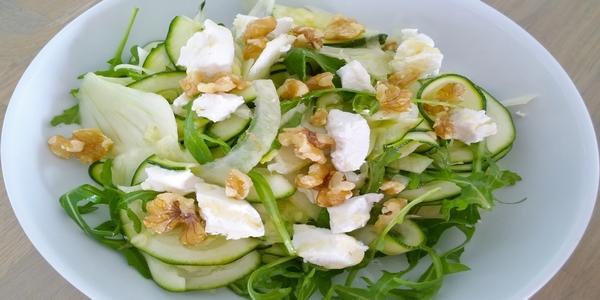 herfst noten - Heerlijke salade van geitenkaas met walnoten