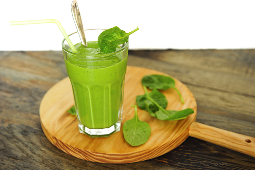 warme en verwarmende smoothie met verse Wasabi