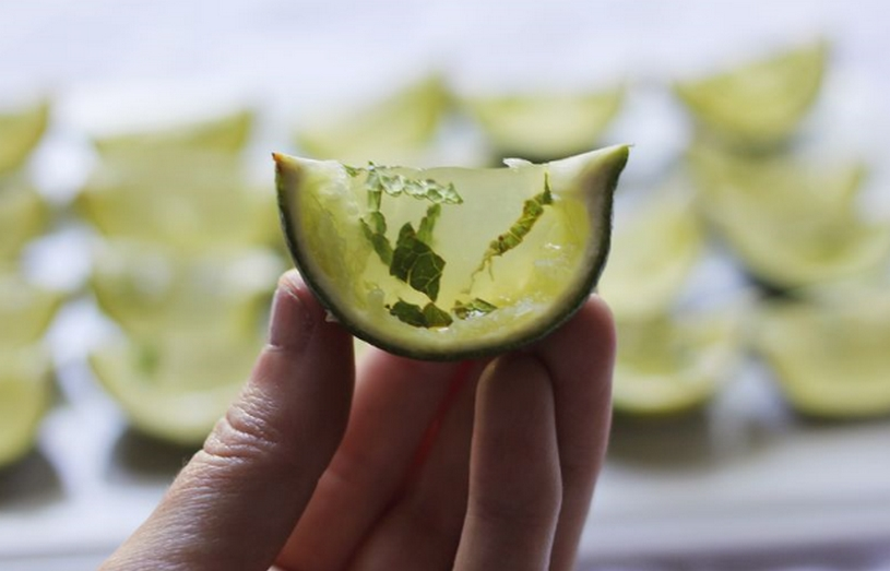 limoen met wasabi gin gel
