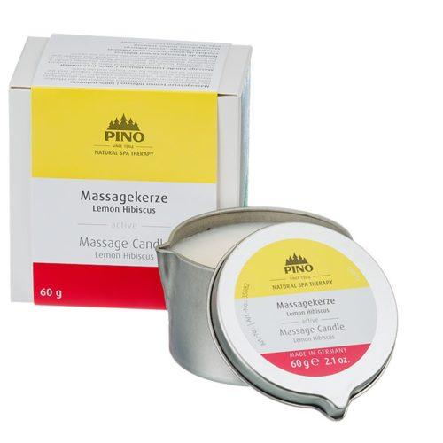 Massagekaars Citroen - Hibiscus