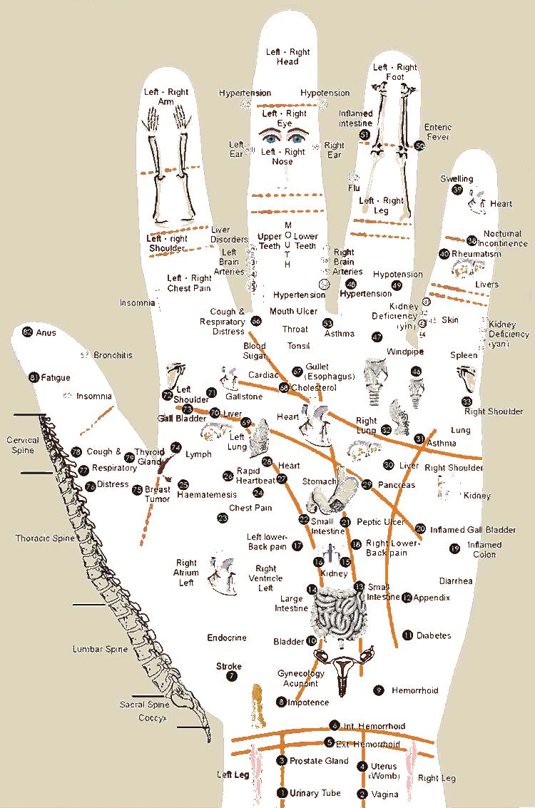 vingerpressuur binnenzijde linkerhand