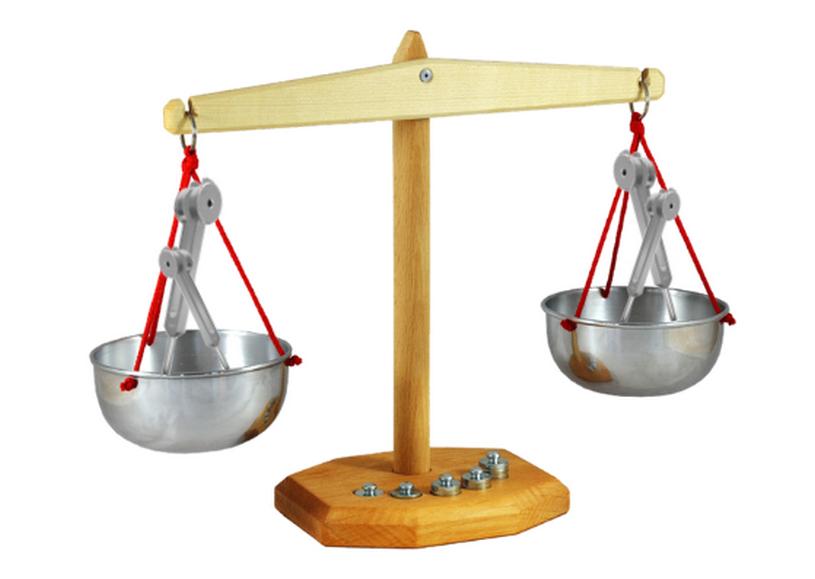 in balans met stemvorken