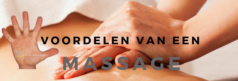 de vijf voordelen van een massage