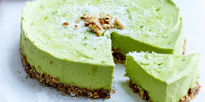 Wasabi avocado cheese cake