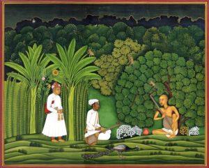 miniatuurschilderij met tanpura, Mughal ca. 1580
