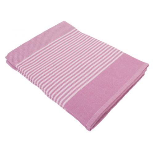 Hamamdoek (peştemal) Deniz lilac blossom, zonder fringes (kwastjes) van het merk Fashion4Wellness