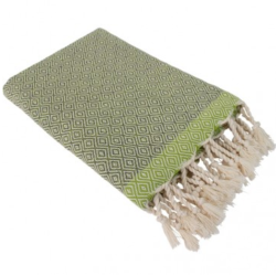 Hamamdoek (peştemal) Double Diamond grey-green van het merk Fashion4Wellness