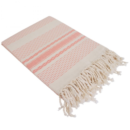 Hamamdoek (peştemal) fouta Hammamet, bright orange, van het merk Fashion4Wellness