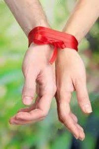 vastgebonden handen