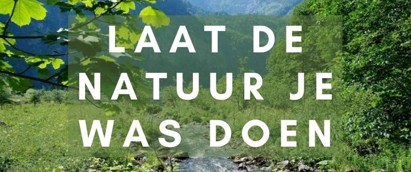Laat de natuur je was doen